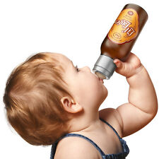 Chill Baby Lil Lager Beer Baby Bottle 10 oz. Shower Funny Gag Gift Safe BPA Free