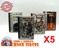 5x SEGA SATURN CIB GAME - CLEAR PLASTIC PROTECTIVE BOX PROTECTOR SLEEVE CASE