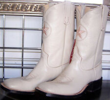 New Anderson Bean Square Toe Cream Kidskin Dyable Cowboy Boots 7.5 D Ladies 8.5D