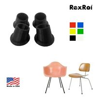 Eames Herman Miller H-Base, DCM / LCM Angled Boot Glides Feet Replacement (Pack
