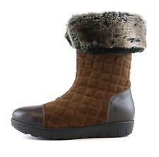 Aquatalia Hovercraft Mid Calf Fur Boots Brown Women Sz 8 6792*