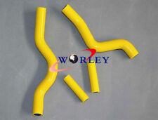 for Suzuki RM250 RM 250 01-08 02 03 04 05 06 07 Silicone radiator hose yellow