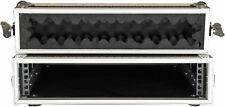 "CaseToGo 2RU 19"" effects rack case flightcase - 350mm sleeve depth"