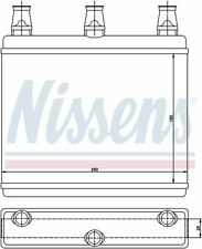 HVAC Heater Core Front Nissens 70517