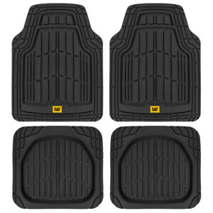 CAT® Heavy Duty Odorless Rubber Floor Mats Fit for Car Truck SUV Van, 4pc Set