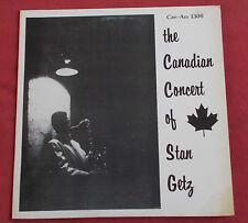 STAN GETZ LP ORIG CAN  CANADIAN CONCERT OF STAN GETZ