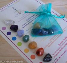 Chakra Healing Crystals 7 Colourful Chakra Stones Reiki Healing Meditation