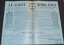 RARE PUBLICITE G.A.R. BRIVE CORREZE 1958 AUTOMOBILE GANT SERRE-TOUT MOUFLE