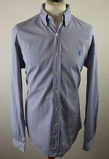 "Premium men's Polo Ralph multi blue striped long sleeved shirt XL 48"" 16 1/2 42"