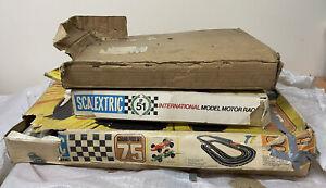 VINTAGE SCALEXTRIC SET NO 75 & 51 GRAND PRIX BOXED Plus Spares