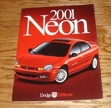 Original 2001 Dodge Neon Deluxe Sales Brochure 01