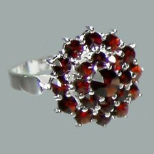 Bohemian Rose Cut Garnet Sterling Silver Ring # SR-082 with Jewelry Certificate