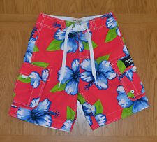 "Abercrombie & Fitch Green Mountain Swim Board Shorts Pink Floral XS 28"" RRP £64"