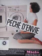 PUBLICITÉ 1985 LAVE-LINGE MIELE LA PAIX N'A PAS DE PRIX - ADVERTISING