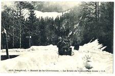 CPA 38 Isère Chartreuse Route du Couvent en hiver animé