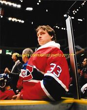 PATRICK ROY Sits On BENCH 8x10 Photo MONTREAL CANADIENS HOF GOALIE GREAT WoW