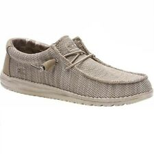 Men's Hey Dude WALLY SOX 110350500 Beige Lace Up Casual Boots Shoes