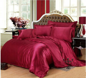 New 100% Pure Mulberry Silk 3PCS Silk Duvet Cover In Multi-color and Multi-size