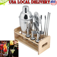 Bar Cocktail Shaker Mixer Drink Bartender Martini Stainless Steel Tools Set Kit