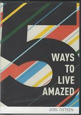 Joel Osteen 5 Ways To Live Amazed CD Audio Resource Series - New