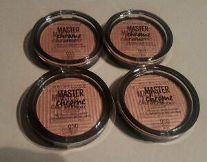 4x MAYBELLINE MASTER CHROME METALLIC HIGHLIGHTER - #050 ROSE GOLD