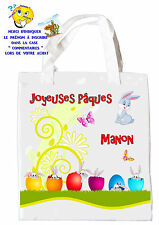 sac shopping joyeuses pâques sac pour la chasse aux oeufs sac à cadeaux réf 43