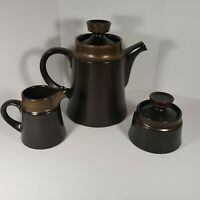 Noritake Primastone Stoneware Japan Brown Sugar Creamer Tea Coffee Pot