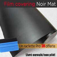 film covering noir mat thermoformable sticker adhésif 150cmx30 + raclette 3m pro