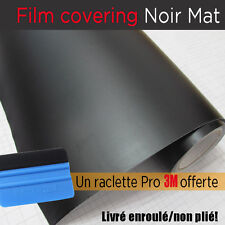 film covering noir mat thermoformable sticker adhésif 150cmx30 + raclette 3m pro