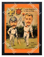 Historic Cricketers Andrew Stoddart & Arthur Mold 1890 Advertising Postcard