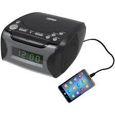 NAXA NRC175 Digital Alarm Clock Tuning AM/FM Radio & Top-Loading CD Player