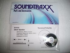 "Soundtraxx Round Speaker  28mm / 1""  8 OHM  #810153 Bob The Train Guy"