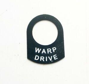 WARP DRIVE USS Enterprise Star trek switch tag