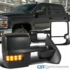 14-18 Silverado Sierra Power Heated Extending Towing Mirrors+Smoke LED Signal