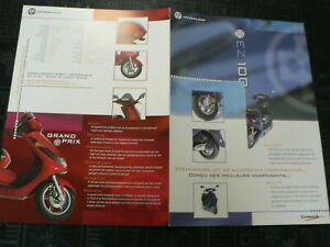 D1080 BROCHURE HYOSUNG EZ 100 GRAND PRIX  SCOOTER MOPED BROMFIETS