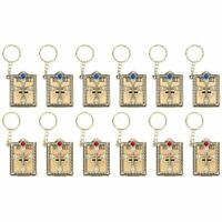 12Pcs Miniature Holy Bible Keychain Religious Favors for Women Men Baptism Gift