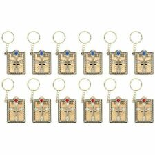 12Pcs Miniature Holy Bible Keychain Religious Favors for Women Men Baptism Gift