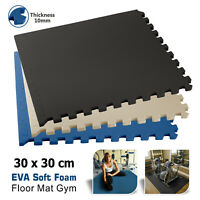 Puzzle Mat Interlocking EVA Soft Foam Floor Gym Exercise Mats Garage With Edges