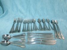 New listing Gibson Flatware Alexis Stainless Set Of 37 Pieces