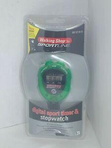 Walking Shop by Sportline GREEN Digital Sport Timer & Stopwatch - Brand New