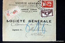 ARGELIA 1938 CARTA RECOMIENDA SOBRE 165CA26