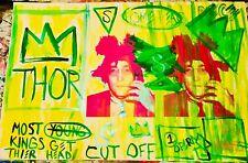 MR CLEVER ART JOHN LENNON BASQUIAT ABSTRACT PAINTING Beatles street art pop art
