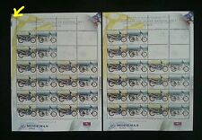 Motorcycles & Scooter Malaysia 2003 Vehicle (sheetlet pair) MNH *Error *Variety