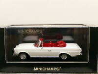 Minichamps 1970 Mercedes Benz 280 SE 3.5 Cabriolet White 1:43 NEW Limited 1200