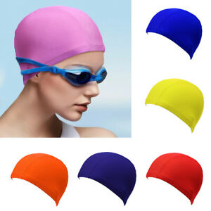 Swimming Cap Solid Color Long Hair Clean Cloth Swim Pool For Adult Men Women 1pc