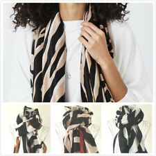 Womens Animal Zebra Print Scarf Ladies Large Wrap Shawls Spring Summer Fashion