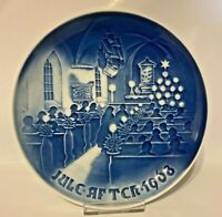 B&G Bing & Grondahl Jule Aften 1968 Christmas in Church Collector Plate 7-1/4''