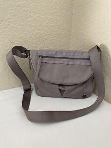 Lululemon Festival II Gray Nylon Shoulder Crossbody Handbag