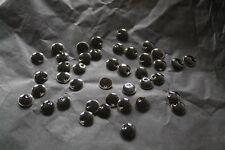 pour fabrication bijoux: sequins émaillés 10mm noir lot 41pc