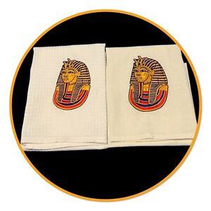 EMROIDERED TEA TOWEL - EGYPTIAN MASK